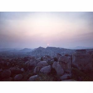 Sunrise in Hampi