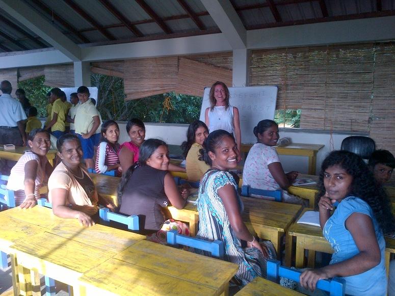 Me teaching an English Language class in Arugam Bay, November 2014