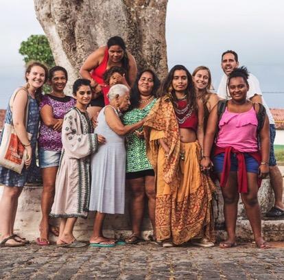 The FearlesslyFRIDA team with FRIDA grantee Pelas Mulheres, photo: @fabricebourgelle